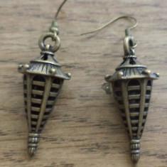 Cercei bronz - lampadare chinezesti