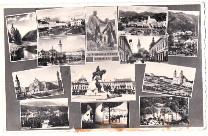 Cluj,Zalau,Satu Mare,Oradea,Bistrita,Baia Mare,Targu Mures,Sighet,mozaic 1943 foto mare