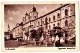 Cluj Kolozsvar cea mai veche statuie (mutata) langa Biserica Piaristilor 1910, Cluj Napoca, Necirculata, Printata