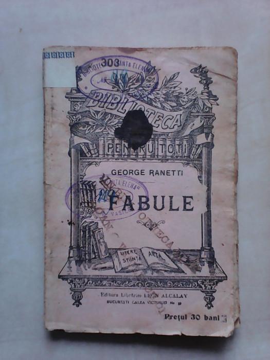 B.P.T nr 303 , Fabule - GEORGE RANETTI foto mare