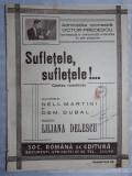 PARTITURA MUZICALA VECHE - SUFLETELE , SUFLETELE - VICTOR PREDESCU - L. DELESCU