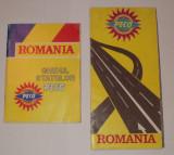 LOT 2 harti PECO : ghidul statiilor + harta drumurilor, Romania P.E.C.O.