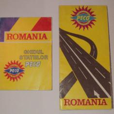 LOT 2 harti PECO : ghidul statiilor + harta drumurilor, Romania - Harta Romaniei