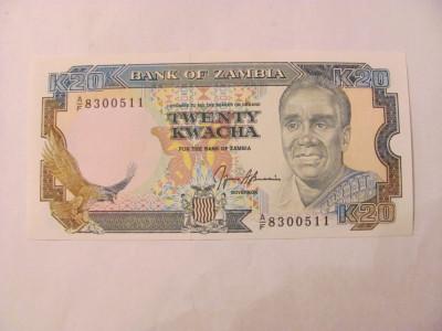 CY - 20 kwacha 1989 Zambia / UNC foto