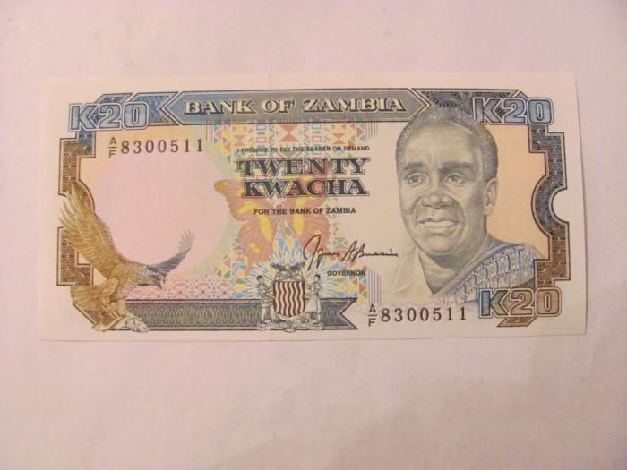 CY - 20 kwacha 1989 Zambia / UNC foto mare