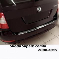 Ornament portbagaj crom Skoda Superb 2 combi 2008-2015 - Ornamente exterioare auto
