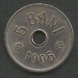 ROMANIA  5  BANI  1905   [1]  livrare  in cartonas, Cupru-Nichel