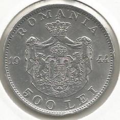 ROMANIA MIHAI I 500 LEI 1944 [2] XF, livrare in cartonas - Moneda Romania, Argint