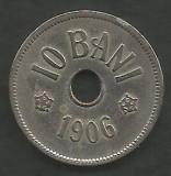 ROMANIA  10 BANI 1906 ,  litera J - Monetaria Hamburg  [8]  livrare in cartonas, Cupru-Nichel