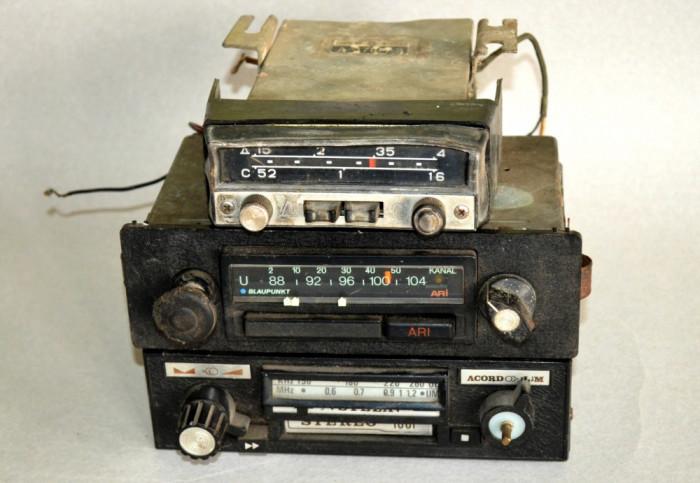 Lot 3 radiouri vechi - neprobate, Stela / Blaupunkt / 1969 Car Radio A-370M-3