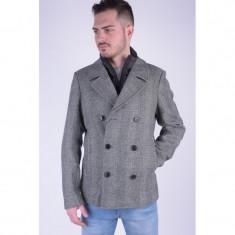 Palton Lana Selected New Peacoat Negru - Palton barbati, Marime: M, Culoare: Gri
