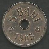 ROMANIA  5  BANI  1905   [4]  livrare  in cartonas, Cupru-Nichel