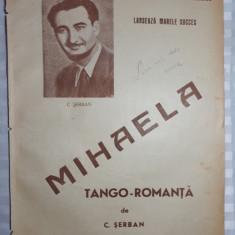 PARTITURA MUZICALA VECHE - MIHAELA - NICU STOENESCU - C.SERBAN