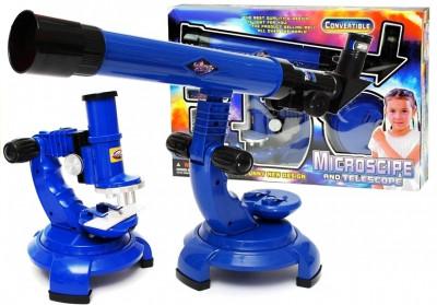 Set 2 in 1 microscop si telescop cu accesorii foto