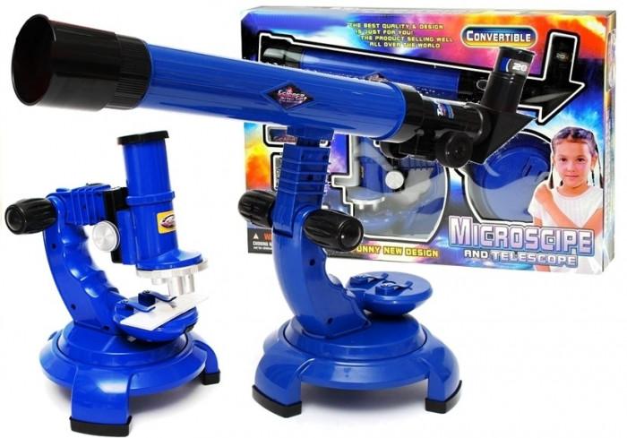 Set 2 in 1 microscop si telescop cu accesorii