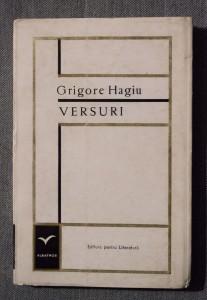 Grigore Hagiu - Versuri (Editura pentru Literatură, 1968, tiraj 2170 ex.)