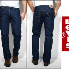 Jeans LEVIS 501 - OneWash si DarkStoneWash - Clasic FIT - - Blugi barbati Levis, Marime: 31, 32, 33, 34, 36, 38, 40, Culoare: Albastru, Bleumarin, Lungi, Drepti, Normal