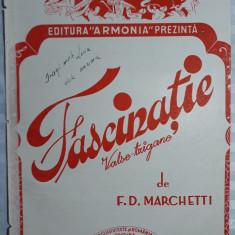 PARTITURA MUZICALA VECHE - FASCINATIE - VALSE TZIGANE