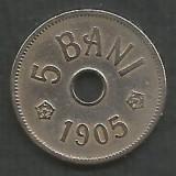 ROMANIA  5  BANI  1905   [3]  livrare  in cartonas, Cupru-Nichel