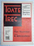 PARTITURA MUZICALA VECHE - PARFUM DE EPOCA - TOATE TREC - N. KIRCULESCU