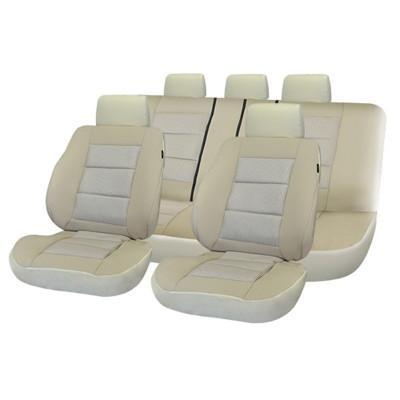 Set huse scaun auto Premium Lux -Bej foto