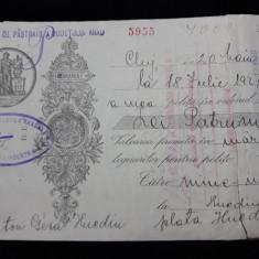 BILET LA ORDIN - CAMBIE - CATRE CASSA DE PASTRARE ARAD - IND. TEXTILA ARAD -1927