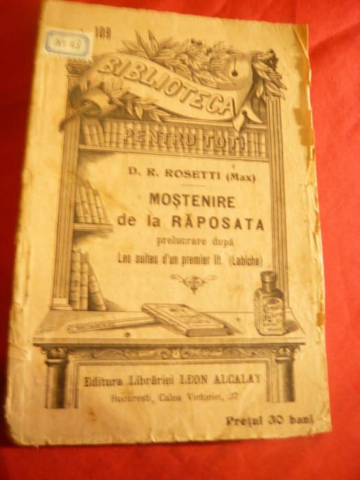 D.R.Rosetti (Max) - Mostenire dela raposata -cca.1896 BPT 109 foto mare