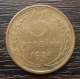(M205) MONEDA RUSIA (URSS) - 3 KOPEICI 1954, Europa