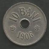 ROMANIA  10 BANI 1906 ,  litera J - Monetaria Hamburg  [7]  livrare in cartonas, Cupru-Nichel
