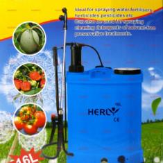 Pompa de stropit electrica si manuala 16L cu acumulator 2 in 1 Herly