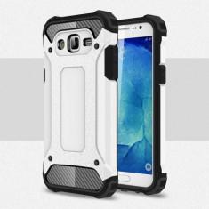 Husa Samsung Galaxy J3 (2016) - Hybrid Armour Silver - Husa Telefon, Gel TPU
