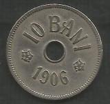 ROMANIA  10 BANI 1906 ,  litera J - Monetaria Hamburg  [1]  livrare in cartonas, Cupru-Nichel
