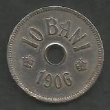 ROMANIA  10 BANI 1906 ,  litera J - Monetaria Hamburg  [12]  livrare in cartonas, Cupru-Nichel