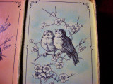 Carti joc voiaj stil Art Nouveau, Patience France, colectie, vintage