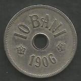 ROMANIA  10 BANI 1906 ,  litera J - Monetaria Hamburg  [6]  livrare in cartonas, Cupru-Nichel