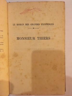 Maurice Reclus, Monsieur Thiers foto