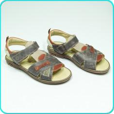 NOI, DE FIRMA → Sandale din piele, usoare, comode, MELANIA → baieti | nr. 38 - Sandale copii Melania, Culoare: Din imagine, Piele naturala