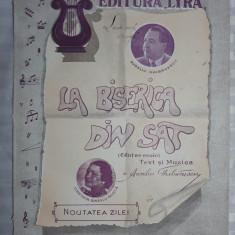 PARTITURA MUZICALA VECHE - LA BISERICA DIN SAT -A. GHIBANESCU -CONSTANTA BANESCU