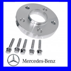 Distantiere Mercedes Spate 5 X 112 15mm + 5 Prezoane M12 sau M14 AL-131017-2