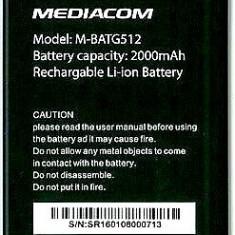 Baterie Originala Smartphone Mediacom Phonepad Duo G512 Livrare gratuita!, Li-ion, 3, 7 V, 2000mAh/7, 4Wh
