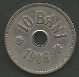 ROMANIA  10 BANI 1906 ,  litera J - Monetaria Hamburg  [2]  livrare in cartonas, Cupru-Nichel