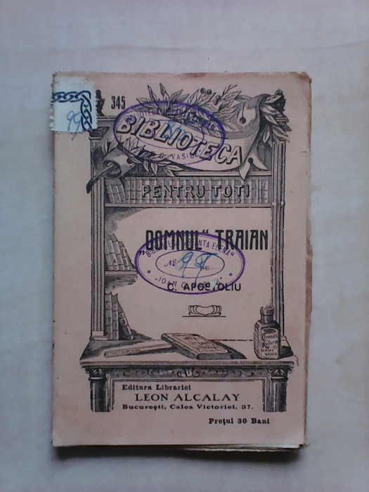 B.P.T nr 345 , Domnul Traian - C. APOSTOLIU , an 1908 foto mare
