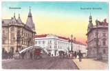 Cluj Kolozsvar podul peste Somes  ilustrata animata circulata in 1916, Cluj Napoca, Printata
