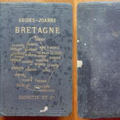 Ghid Franta , provincia Bretagne , Editura Hachette , Paris , 1904 , harti