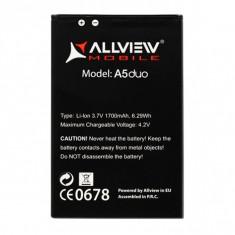 Baterie originala Smartphone Allview A5Duo 1700mAh Livrare gratuita!, Allview A5 Duo, 1800mAh/6,7Wh, 3,7 V