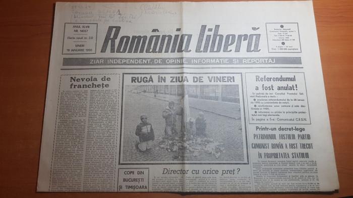 romania libera 19 ianuarie 1990-patrimoniul PCR trecut in proprietatea statului foto mare