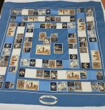 Esarfa model Burberry, Bleu