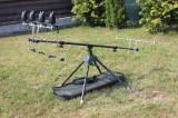 Rod Pod Full Echipat 4 Avertizori FL 2017 Antifurt 6 Leduri + 4 Swingeri Lumino, 4 posturi, Fishing Line - FL