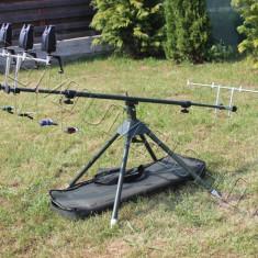 Rod pod Fishing Line - FL Full Echipat 4 Avertizori FL 2017 Antifurt 6 Leduri + 4 Swingeri Lumino, 4 posturi