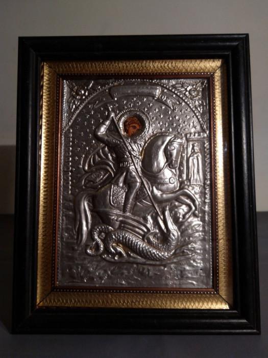 Icoana romaneasca veche, Sf. Gheorghe omorând balaurul
